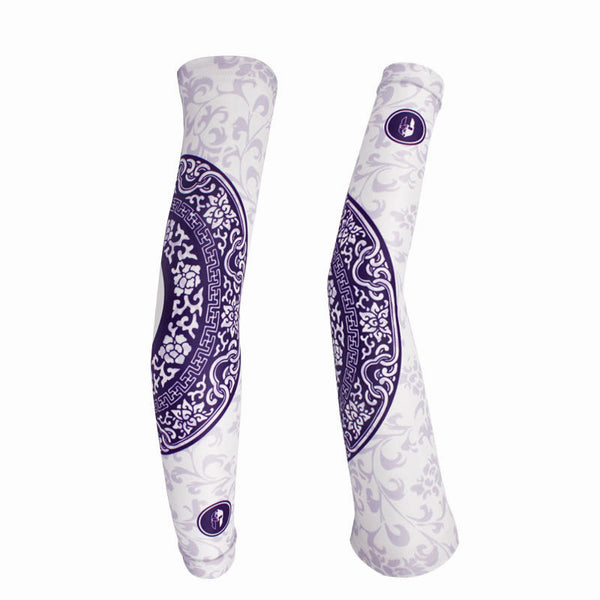 Professional Outdoor Sport Wear Compression Arm Sleeve Gentle Style Oversleeve Blue& White Porcelain Series Pair Breathable UV Protection Unisex -  Cycling Apparel, Cycling Accessories | BestForCycling.com