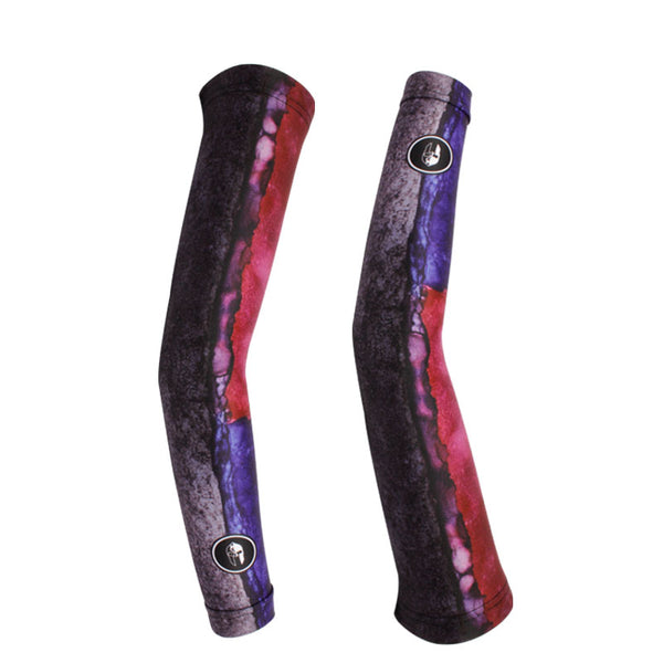 Red& Blue Professional Outdoor Sport Wear Compression Arm Sleeve Oversleeve Pair Breathable UV Protection Unisex NO.X025 -  Cycling Apparel, Cycling Accessories | BestForCycling.com