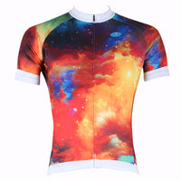ILPALADINO Morning Glow Men's Professional MTB Cycling Jersey Breathable and Quick Dry Comfortable Bike Shirt for Summer NO.258
