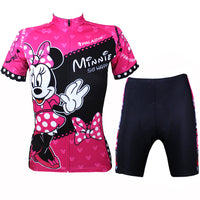 Mickey Mouse's Girlfriend Minnie Pretty Woman's Short-sleeve Cycling Suit Lovely Team Jacket Sweet T-shirt Summer Suit Spring Autumn Clothes Sportswear Leisure Biking Shirt Cartoon World NO.096 -  Cycling Apparel, Cycling Accessories | BestForCycling.com
