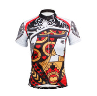 Playing Cards Poker Face Heart Queen Women's Long Sleeves Cycling Jerseys T-shirt  NO.641 -  Cycling Apparel, Cycling Accessories | BestForCycling.com