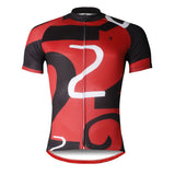 ILPALADINO Number 2 TWO Red&Black Men's Cycling Jersey Red Cycling Short Short for Summer Bike Shirt Quick Dry Apparel Outdoor Sports Gear Leisure Biking T-shirt NO.742 -  Cycling Apparel, Cycling Accessories | BestForCycling.com