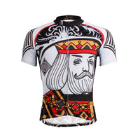 ILPALADINO Poker Face Playing Card Diamonds King Short/long-sleeve Men's Cycling Suit Jersey Apparel Road Riding Bicycling Bike Shirt Breathable and Quick Dry Cycling Sports Wear for Summer Face Cards Court Cards NO.638 -  Cycling Apparel, Cycling Accessories | BestForCycling.com
