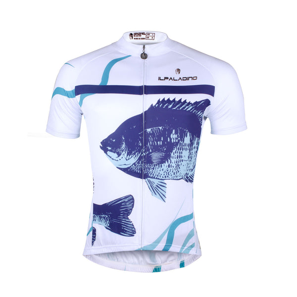 ILPALADINO Men's Cycling Apparel Fish White Bike Shirt for Summer Comfortable Cycling Jersey  Exercise Bicycling Pro Cycle Clothing Racing Apparel Outdoor Sports Leisure Biking Shirts NO.744 -  Cycling Apparel, Cycling Accessories | BestForCycling.com
