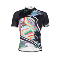 Multicoloured Zebra Head Cycling Jersey Men's  Short-Sleeve Bicycling Shirts Summer  NO.633 -  Cycling Apparel, Cycling Accessories | BestForCycling.com