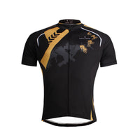 Ilpaladino Cool Black Cyclist Breathable Cycling Jersey Men's Short-Sleeve Sport Bicycling Summer Spring Autumn Pro Cycle Clothing Racing Apparel Outdoor Sports Leisure Biking Shirts Quick Dry Wear NO.645 -  Cycling Apparel, Cycling Accessories | BestForCycling.com
