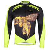 ILPALADINO Honey Bee Men's Long Black and Yellow Sleeves Cycling Jerseys Suit Winter Exercise Bicycling Pro Cycle Clothing Racing Apparel Outdoor Sports Leisure Biking (Velvet) NO.737 -  Cycling Apparel, Cycling Accessories | BestForCycling.com