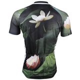 ILPALADINO Lotus Pond Nature Men's Cycling Mountain Bike Jersey Summer Lotus Breathable Bike Apparel Outdoor Sports Gear Leisure Biking T-shirt Black NO.147 -  Cycling Apparel, Cycling Accessories | BestForCycling.com