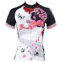 Ilpaladino Scenic Spring Women's Summer Short-Sleeve Cycling Jersey Biking Exercise Bicycling Pro Cycle Clothing Racing Apparel Outdoor Sports Leisure Breathable Sport Butterfly Around Petals Clothes NO.542 -  Cycling Apparel, Cycling Accessories | BestForCycling.com