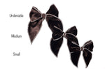 Rosalie - Coffee Brown Velvet Bow