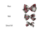 3 sizes of red tartan christmas handmade bow