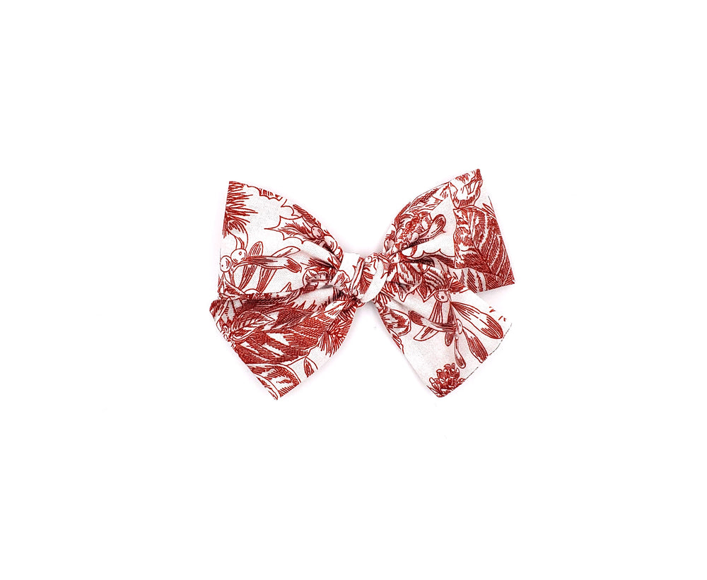 poinsettias red christmas handmade bow