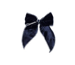 Rosalie - Oxford Blue Velvet Bow