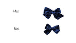 2 sizes of swiss blue handmade bow