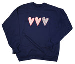 Hearts Embroidered Sweatshirt