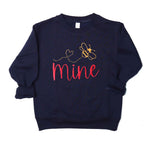 Bee Mine Kids Embroidered Sweatshirt