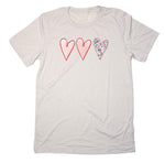 Hearts Adult Unisex T-Shirt