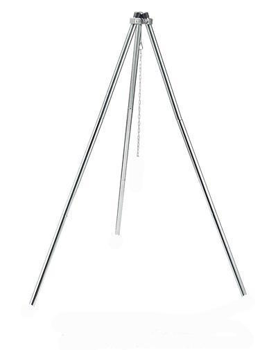 Red Roads Fire Tripod - CampWell Stainless Steel, Collapsible Cooking Tripod