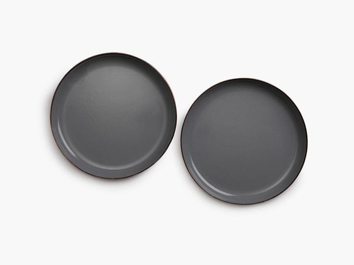 Barebones Enamel Deep Plate Set of 2