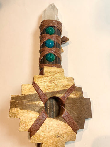 Wooden Warrior Shamanic Sword