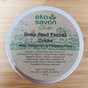 Hemp, Patchouli & Frankicense Face Cream