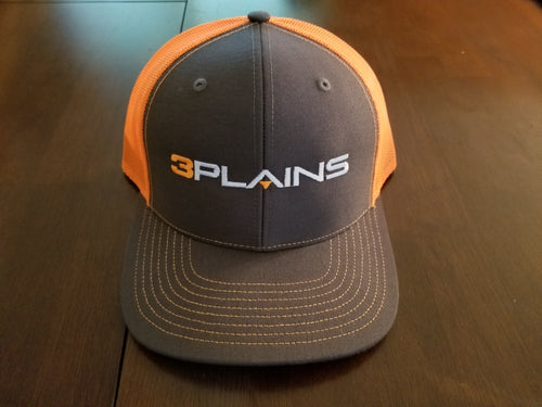 3plains Blaze Orange Black Snapback Hat