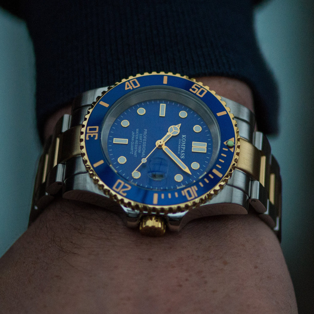 KOMPASS GRAND DIVER GOLD / STEEL