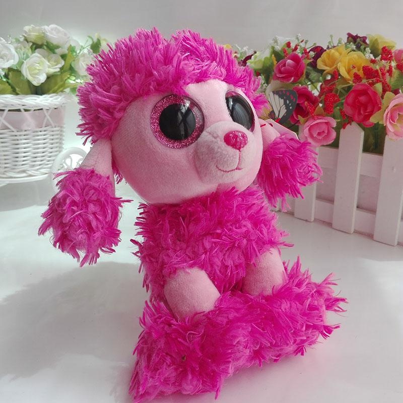 Ty Beanie Boos collection Plush Toy Patsy Pink Poodle Dog Sruffed Animal  Doll Soft Kids Toy 925f777be6df