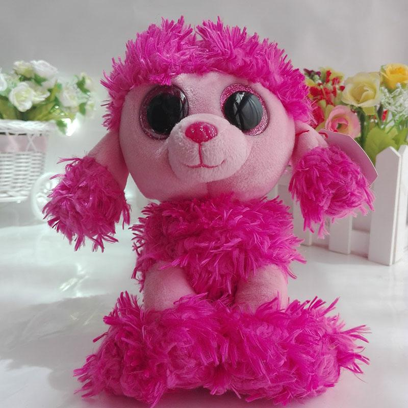 Ty Beanie Boos collection Plush Toy Patsy Pink Poodle Dog Sruffed Animal  Doll Soft Kids Toy 42ae5c045f8c