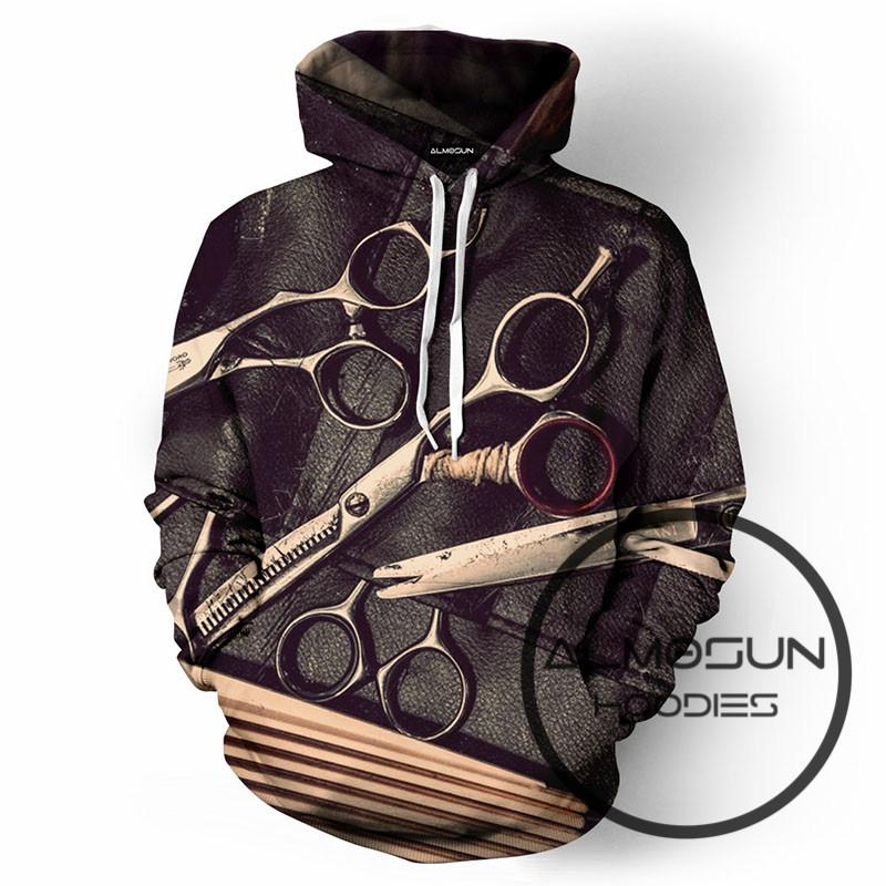 b7d66062a626 ALMOSUN Barbershop Fashion 3D All Over Print Pullover Hoodies Hip Hop  Jumper Funny Hipster Sportswear Unisex