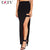 RZIV women skirt 2016 summer fashion black long sexy slit maxi skirts