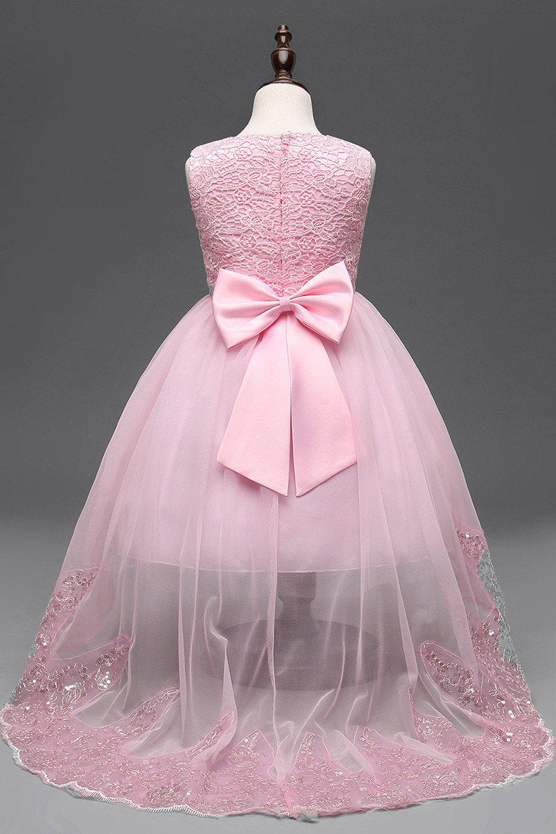Pageant Dresses for Little Girls Cheap Lace Ball Gown Flower Girl ...