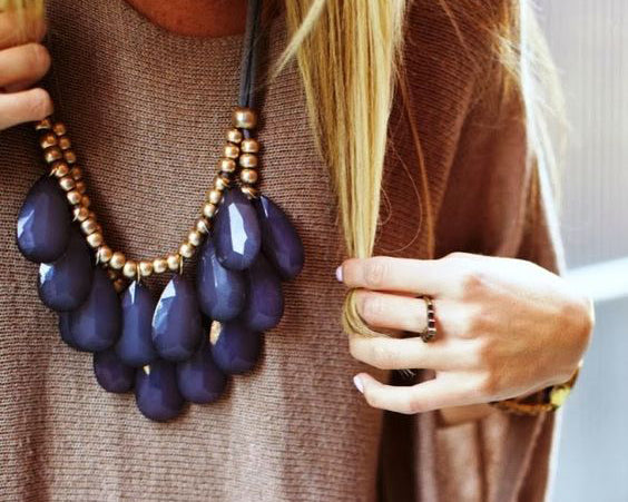 Latest trend deep hue jewellery