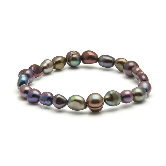 Kyoto Pearl Mixed Freshwater Baroque Pearl Stretch Bracelet - Harpson Accessories
