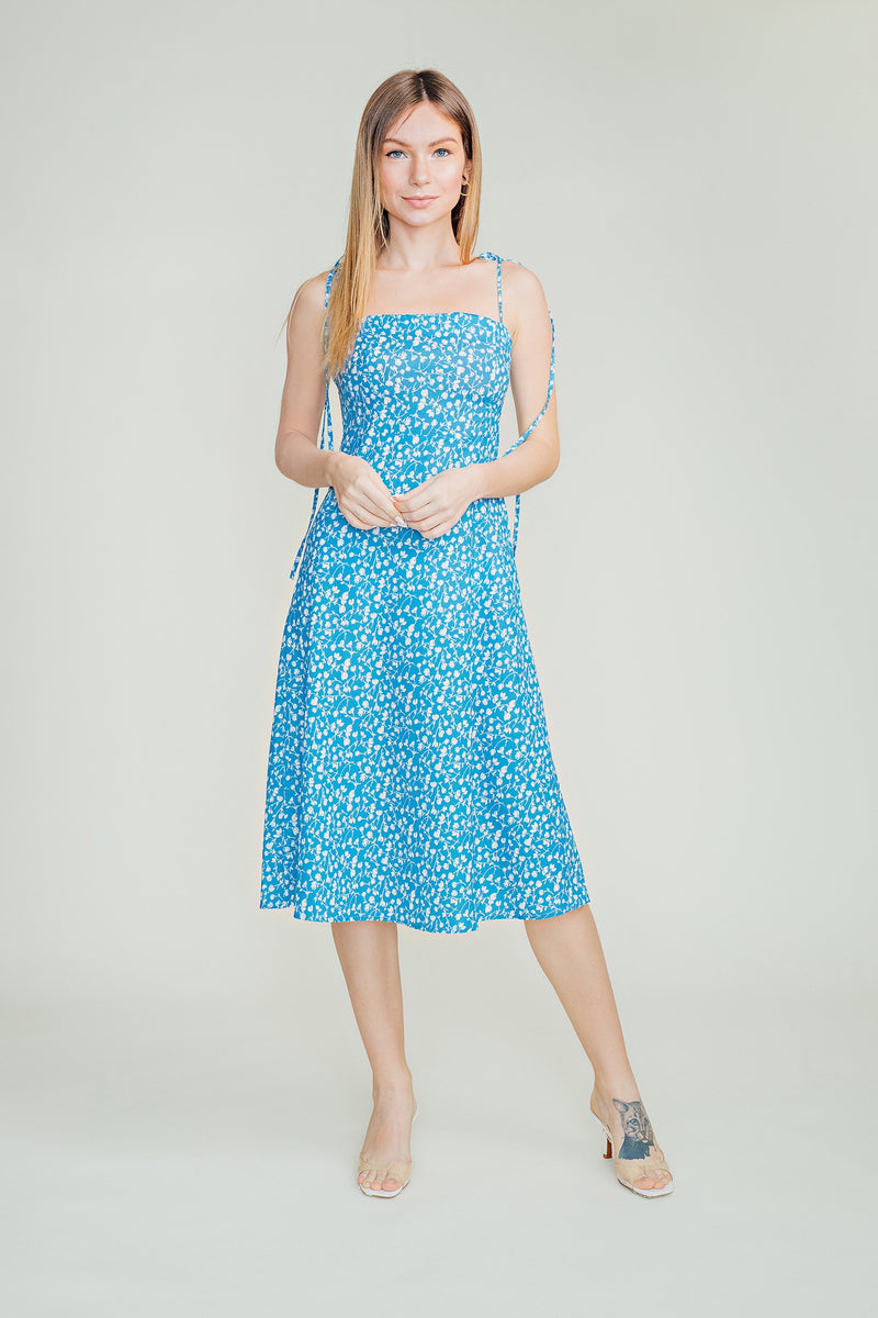 Nina Self Tie Midi Dress