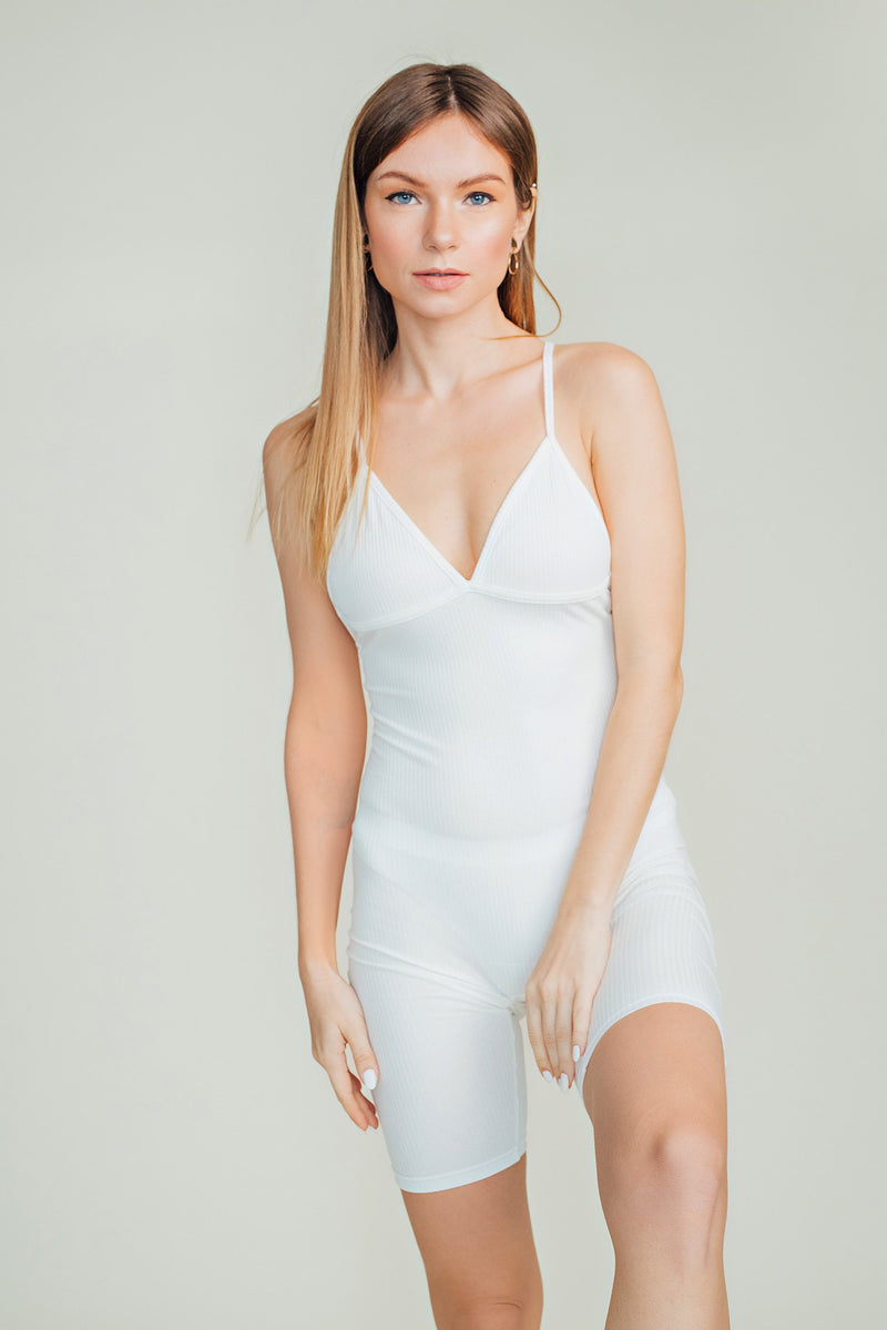 Aria Ribbed Sleeveless Playsuit
