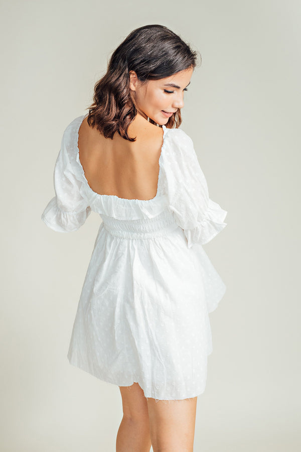 Heather Eyelet Mini Dress