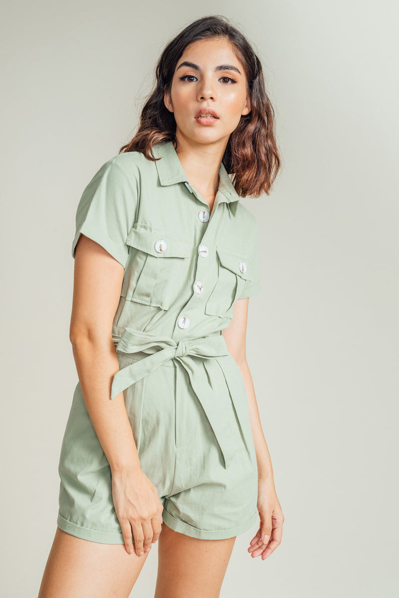 Hera Buttondown Romper
