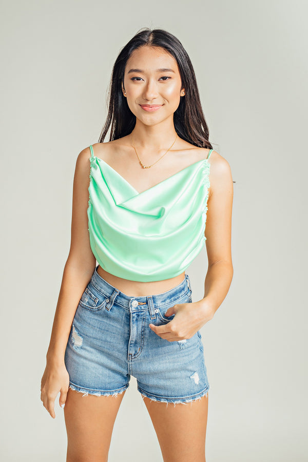 Sal Backless Cowl Tank Top