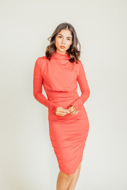 Petal Turtleneck Dress