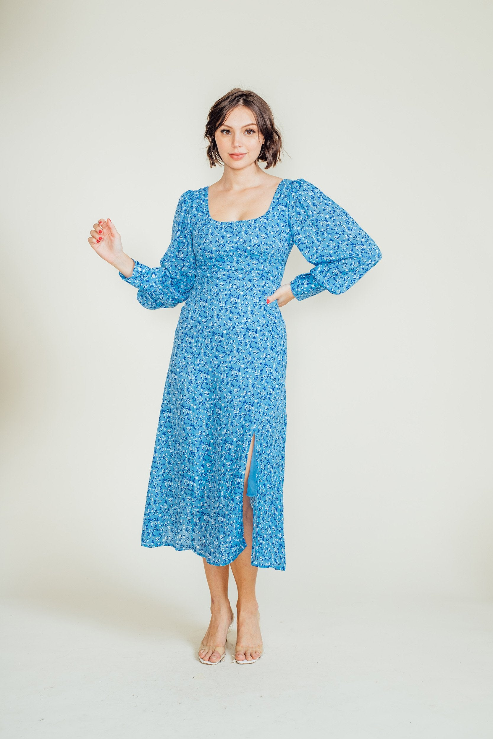 Hana 3/4 Sleeves Maxi Dress