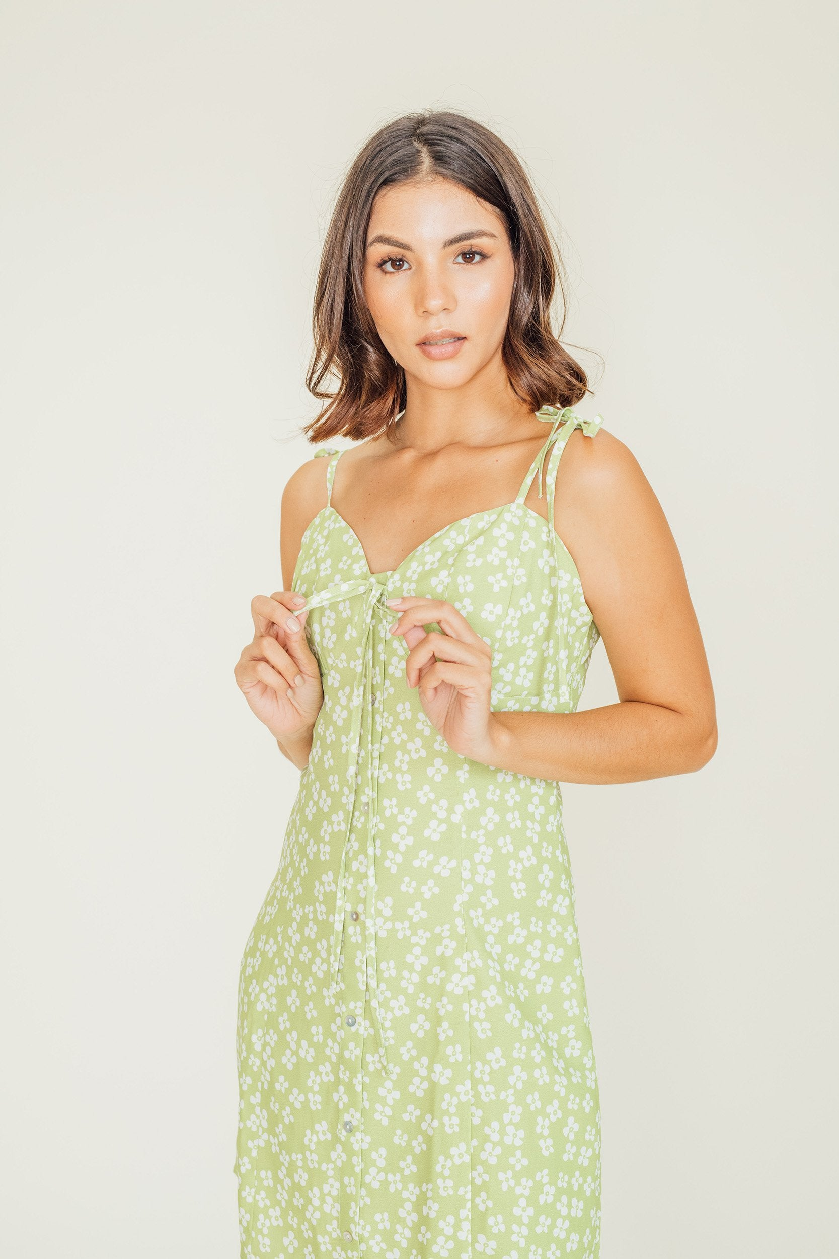 Lena Self Tie Mini Dress