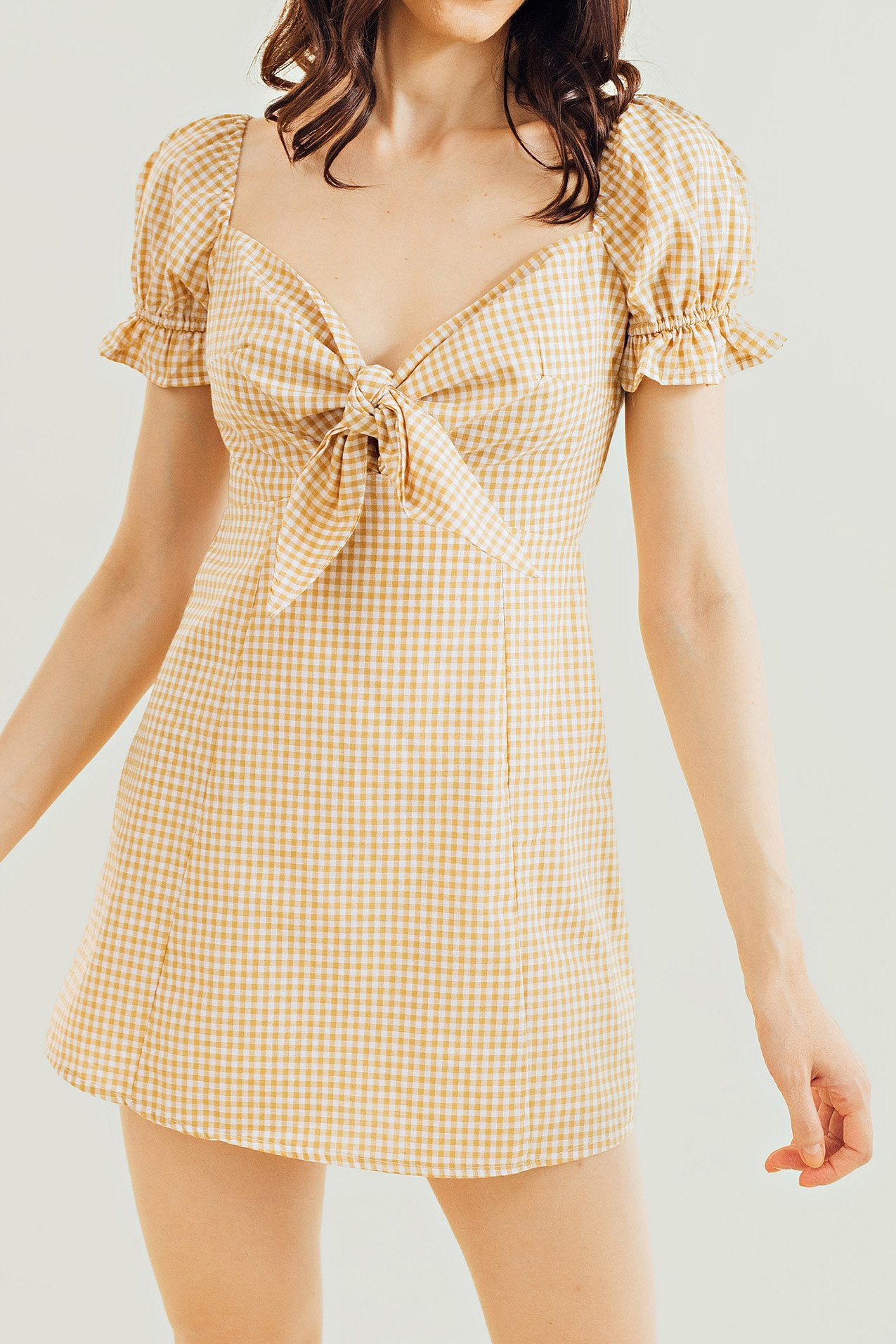 Betty Checkered Mini Dress