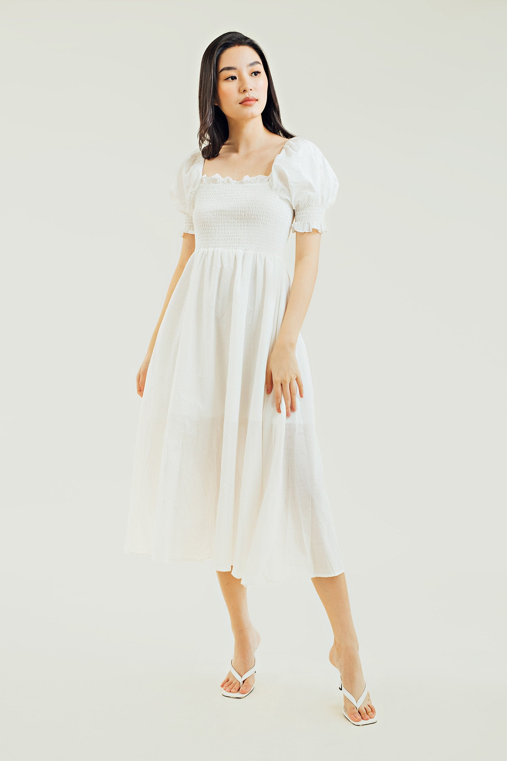 Cassidy Puff Sleeves Maxi Dress