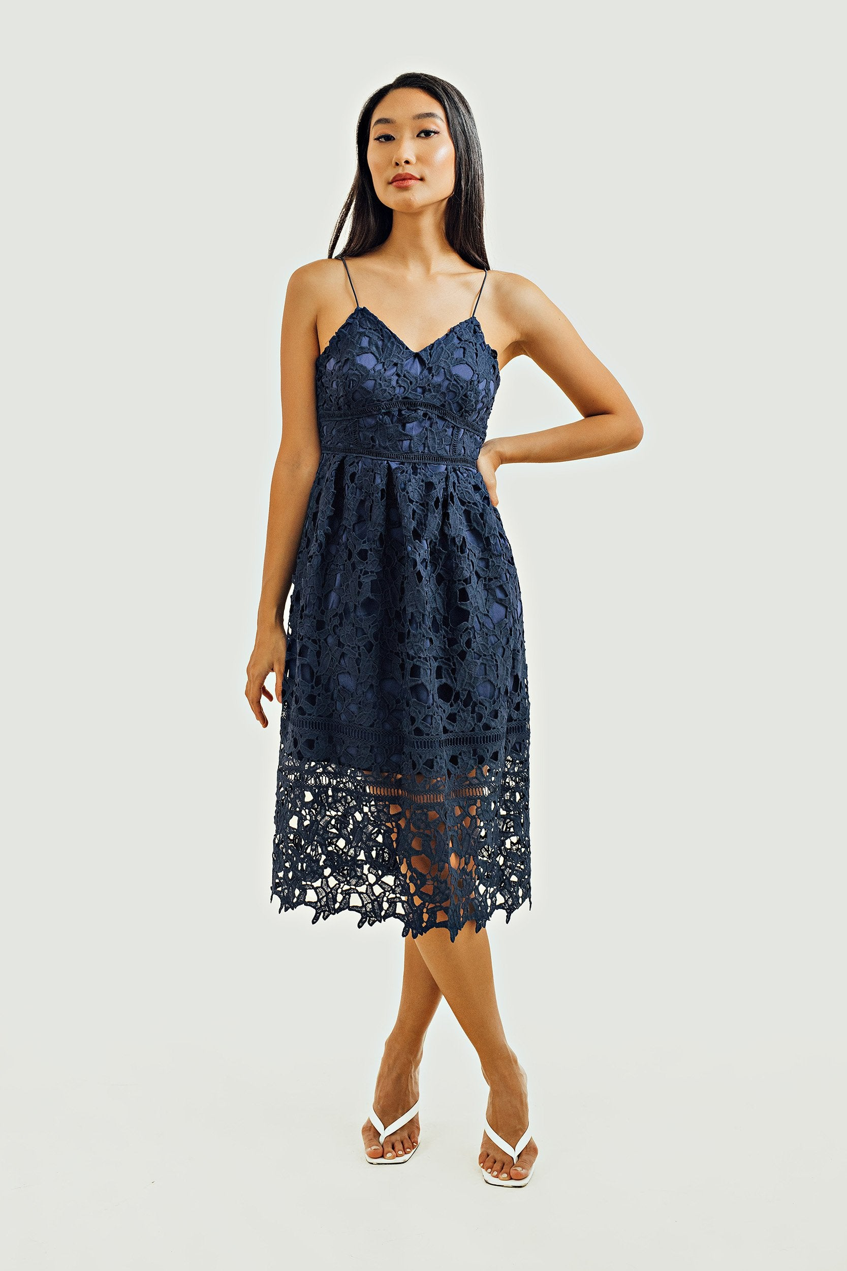 Ellie Eyelet Midi Dress