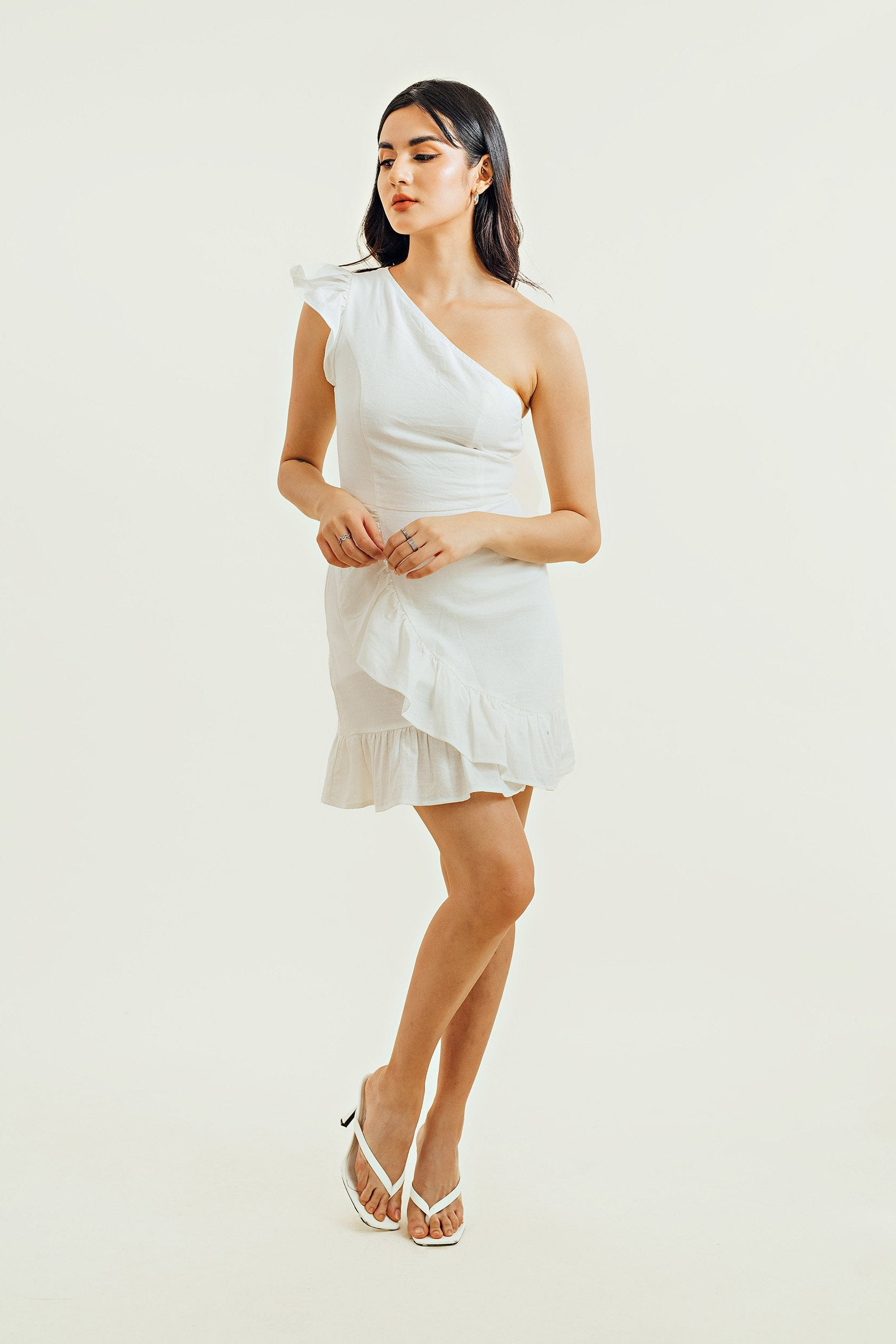 Madelynn Linen Mini Dress
