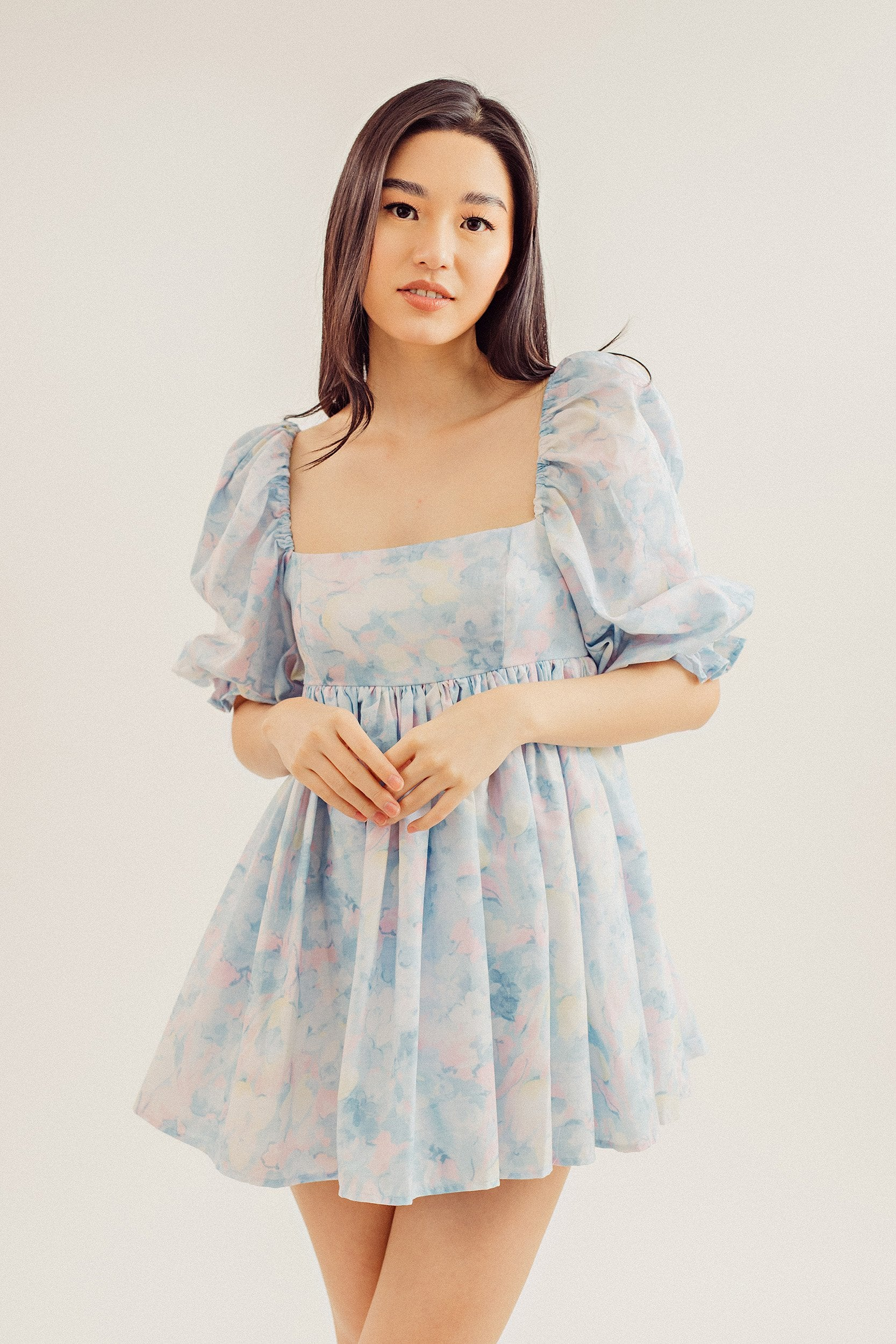 Kirby Puff Sleeve Mini Dress
