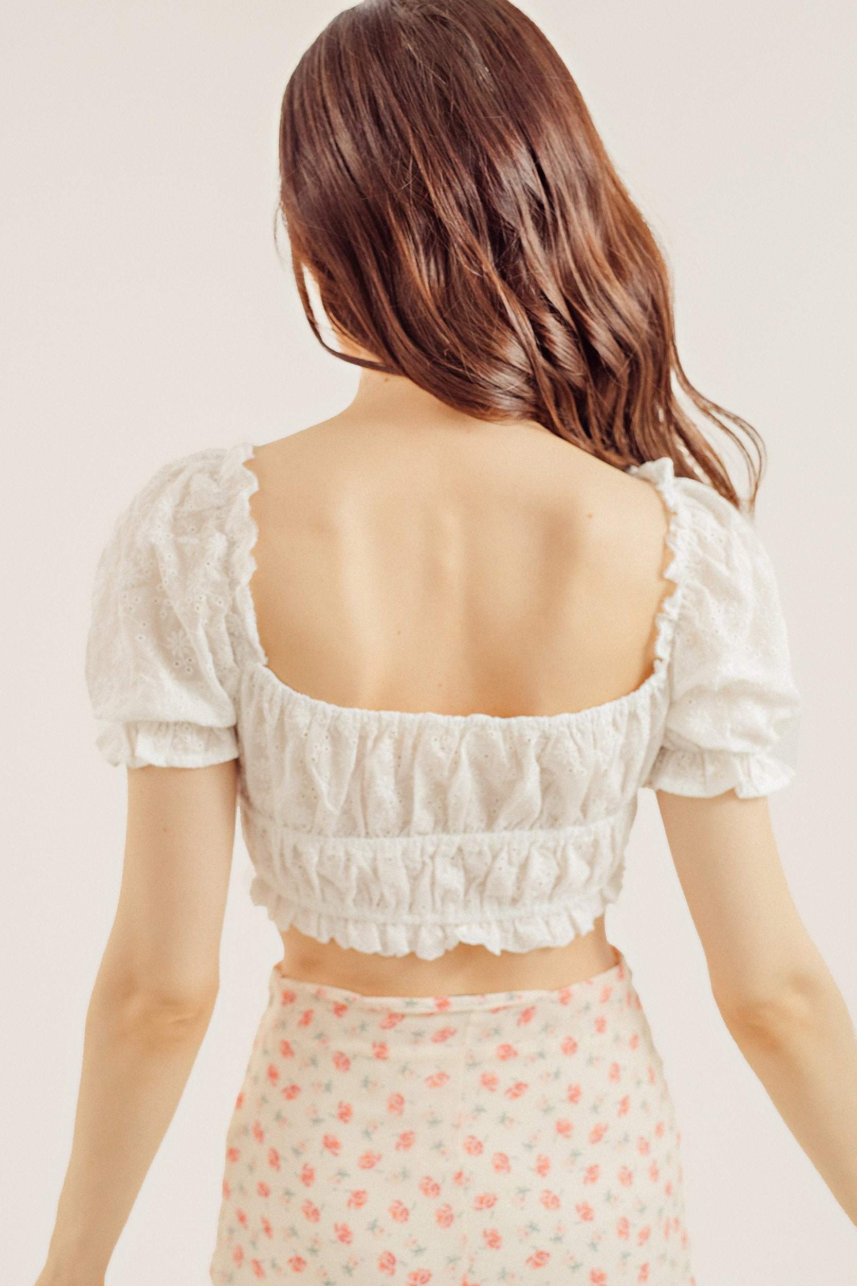 Schiffy Eyelet Crop Top