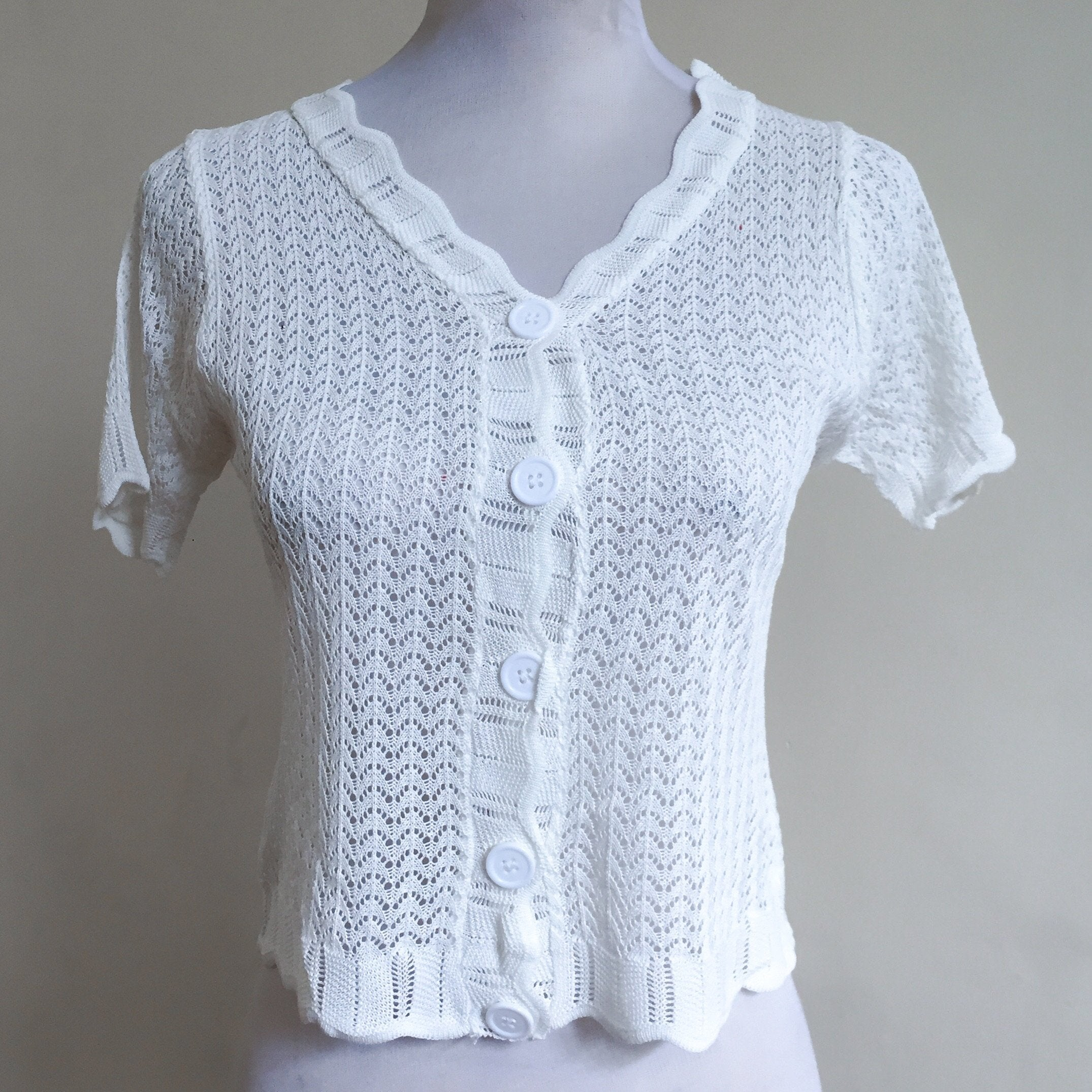 Flint Lace Buttondown Top