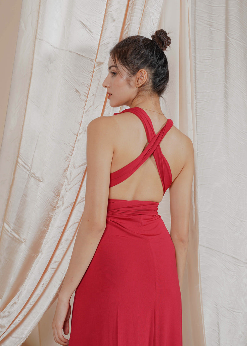 Burgandy Infinity Dress